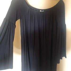 Macy's black off the shoulder dress